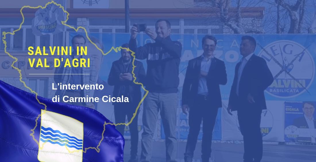 [Video] L'intervento di Carmine Cicala durante l'incontro con Il Ministro Salvini in Val D'Agri