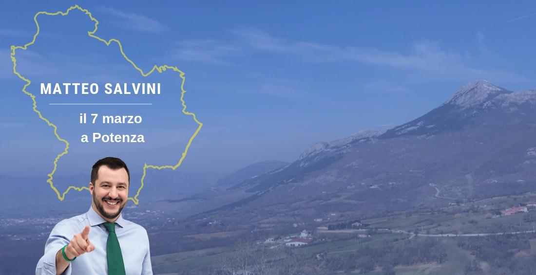 Matteo Salvini il 7 marzo a Potenza