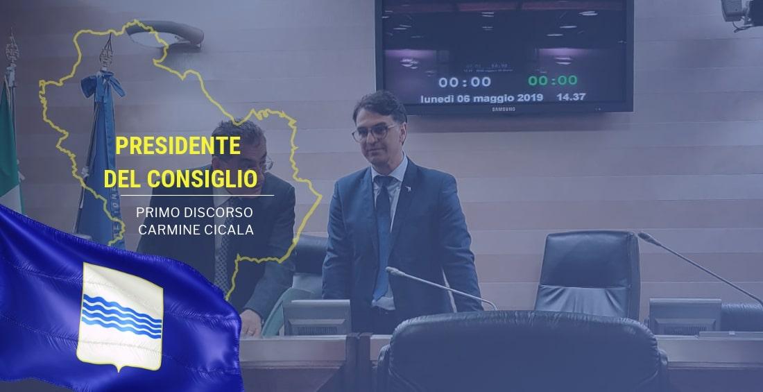 Il discorso del Presidente del Consiglio Carmine Cicala