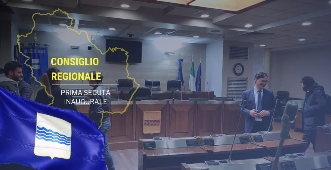 Lunedì 6 maggio, prima riunione del Consiglio Regionale