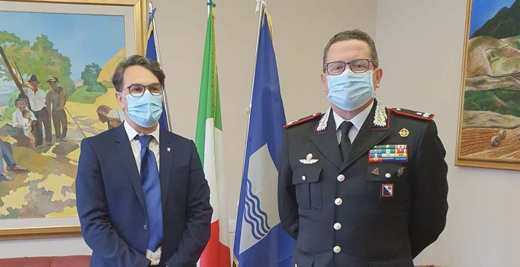 Cicala incontra neo comandante Legione Carabinieri, Covetti
